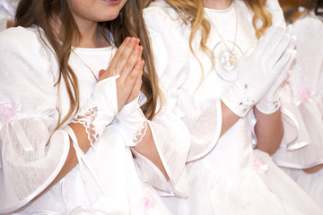 Communion child girl