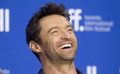 Actor Hugh Jackman attends a news conference for the film Prisoners at the 38th Toronto International Film Festival.
