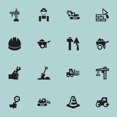 Set Of 16 Editable Structure Icons. Includes Symbols Such As Caterpillar, Notice Object , Hands. Can Be Used For Web, Mobile, UI And Infographic Design.