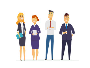 Business Characters - modern flat composition.