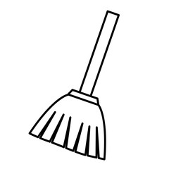 broom icon over white background. vector illustration