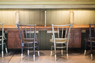 Retro Vintage Wooden Table And Chairs