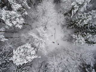 Winter in Lithuania.