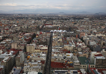 General view of downtown Mexico City