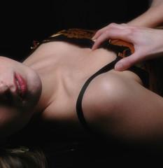 Frau Dessous / Akt sexy lowkey Bodypart 4