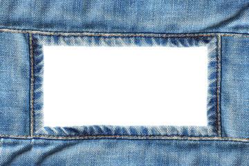 Frame of blue jeans