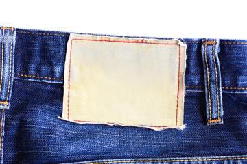 canvas label jeans
