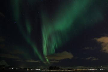 Northern lights and fjords