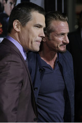 """Actors Josh Brolin and Sean Penn arrive at Warner Bros. Pictures' """"Gangster Squad"""" premiere at Grauman's Chinese Theatre in Hollywood, California"""