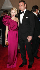 Actors Naomi Watts and Liev Schreiber arrive at the Metropolitan Museum of Art Costume Institute Benefit in New York