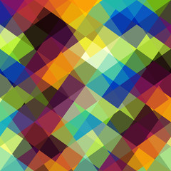 Colorful abstract pattern in low poly style.