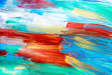 bright abstract paint drawing background top view texture