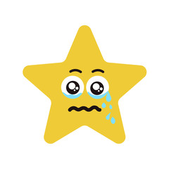 Emotional face star cry