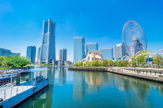 横浜みなとみらいの風景 / Scenery of Minatomirai in Yokohama. Yokohama, Kanagawa, Japan.