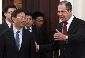Russia's Foreign Minister Lavrov meets his China's counterpart Yang in Moscow