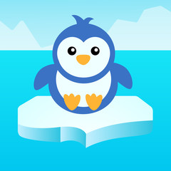 Penguin on the ice.