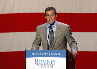 Zwick, national finance chairman for Republican presidential candidate Romney speaks at campaign fundraiser in Beverly Hills