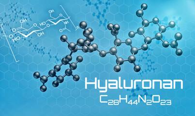 Dreidimensionale Molekülstruktur von Hyaluronan