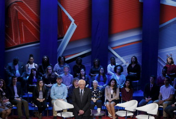 U.S. Democratic presidential candidate Bernie Sanders speaks during the CNN/TV One Democratic Town Hall at The Ohio State University in Columbus, Ohio