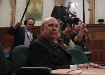 Supreme Court of Canada nominee Justice Nadon waits to testify before an all-party committee to review his nomination on Parliament Hill in Ottawa