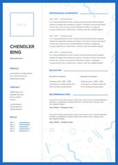 CV template. Minimalist resume, web page, job application, skills presentation.