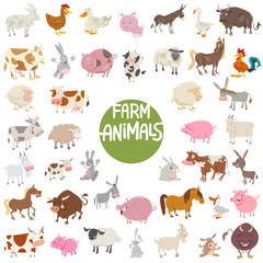 farm animal characters big set
