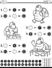 educational worksheet coloring page