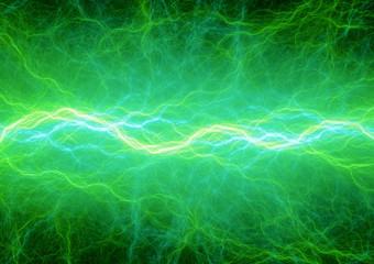 Green plasma, abstract lightning background