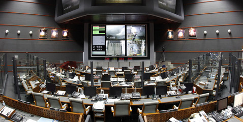View of the Jupiter Control Room at the Guiana Space Center in Kourou, French Guiana