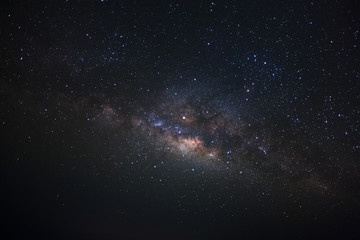 Clearly milkyway galaxy at phitsanulok in thailand. Long exposure photograph.with grain