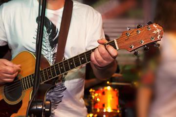 Musician playing guitar