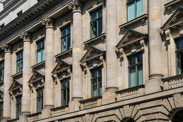 historic building facade with columns