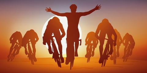 cyclisme - sprint - course - vélo - vainqueur - coureur - cycliste - compétition