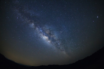 milky way galaxy,Long exposure photograph, with grain
