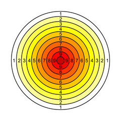 Yellow, red target - vector