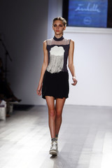 770d9d3a3fa3 A model presents a creation from the thirteen year old designer Isabella  Rose Taylor Spring