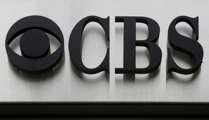 """The CBS """"eye"""" and logo are seen outside the CBS Broadcast Center on West 57th St. in Manhattan New York"""