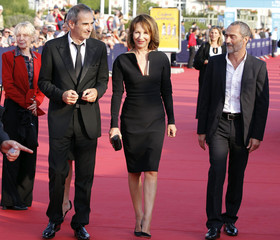 Jury members Claire Denis, Olivier Assayas, Nathalie Baye and Angelin Preljocaj arrive at the official opening of the 37th American film festival in Deauville