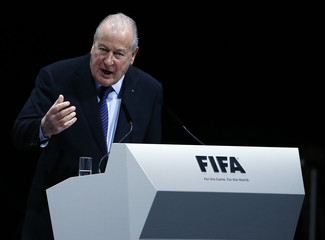 Carrard Chairman of the 2016 Reform Committee addresses the Extraordinary FIFA Congress in Zurich