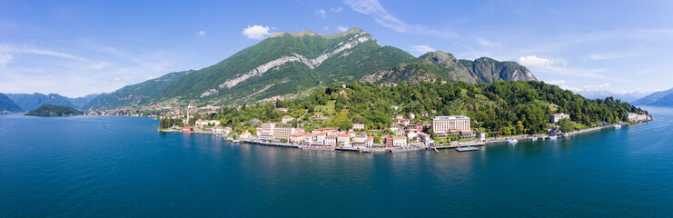 Tremezzo and Cadenabbia - Panoramic view on Como Lake - Aerial view
