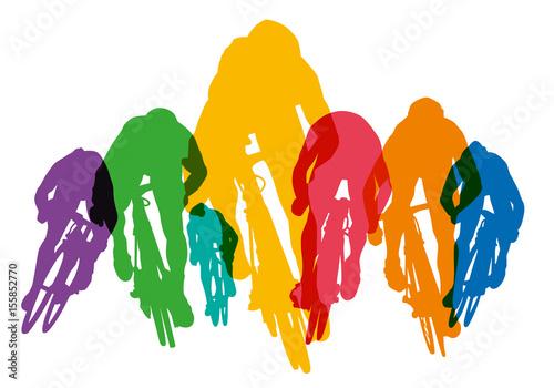 Cyclisme sprint course silhouette vainqueur coureur cycliste comp tition fichier - Coureur dessin ...