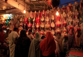 People shop for clothing ahead of Ramadan in Rawalpindi