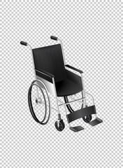 Wheelchair on transparent background
