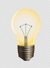 Lightbulb on transparent background