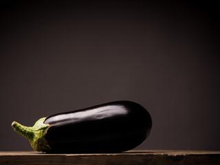 Fresh organic eggplant