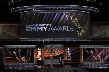 Host Jimmy Kimmel opens the show at the 64th Primetime Emmy Awards in Los Angeles