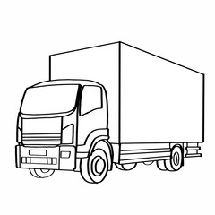 Truck icon painting page