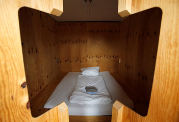 """Picture shows sleeping room for hotel guests of """"Grandhotel Cosmopolis"""" in Augsburg"""