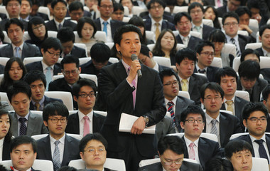 Stockholders of Hyundai Motor attend the automaker's annual general meeting of stockholders at its headquarters in Seoul