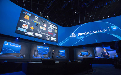 Layden, President and CEO of Sony Computer Entertainment America, speaks during a media briefing before the opening day of the Electronic Entertainment Expo, or E3, at the Memorial Sports Arena in Los Angeles
